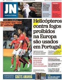 capa Jornal de Notícias de 30 agosto 2018