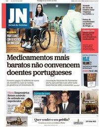 capa Jornal de Notícias de 30 setembro 2018