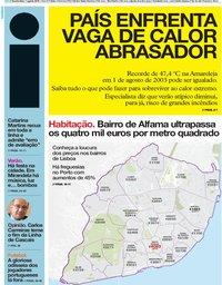 capa Jornal i de 1 agosto 2018