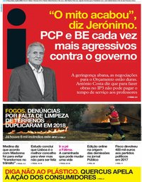 capa Jornal i de 3 julho 2018