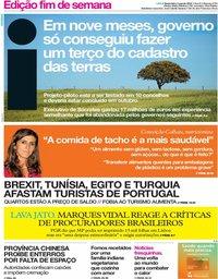 capa Jornal i de 3 agosto 2018