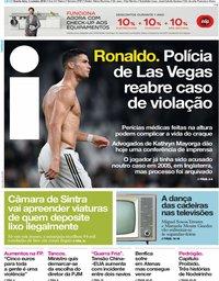 capa Jornal i de 3 outubro 2018