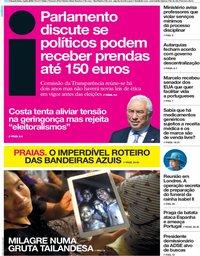 capa Jornal i de 4 julho 2018