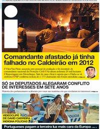 capa Jornal i de 8 agosto 2018