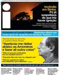 capa Jornal i de 8 outubro 2018