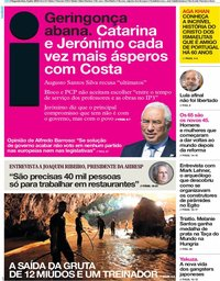 capa Jornal i de 9 julho 2018