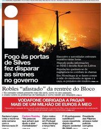 capa Jornal i de 9 agosto 2018