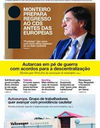 capa Jornal i de 10 julho 2018