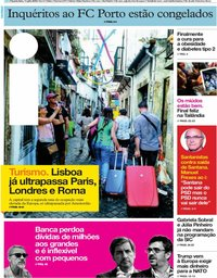 capa Jornal i de 11 julho 2018