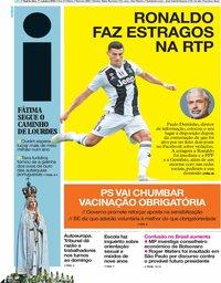 capa Jornal i de 11 outubro 2018