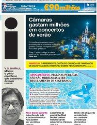 capa Jornal i de 13 agosto 2018