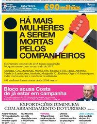 capa Jornal i de 14 agosto 2018