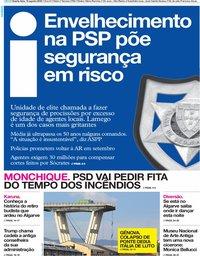 capa Jornal i de 15 agosto 2018
