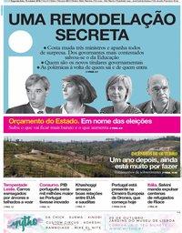 capa Jornal i de 15 outubro 2018