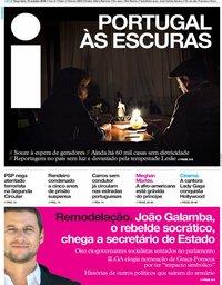 capa Jornal i de 16 outubro 2018