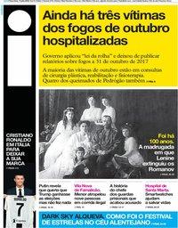 capa Jornal i de 17 julho 2018