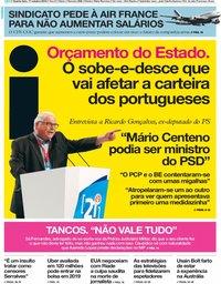 capa Jornal i de 17 outubro 2018
