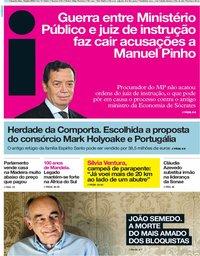 capa Jornal i de 18 julho 2018