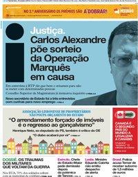 capa Jornal i de 18 outubro 2018