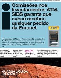 capa Jornal i de 26 julho 2018