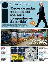 capa Jornal i de 27 agosto 2018