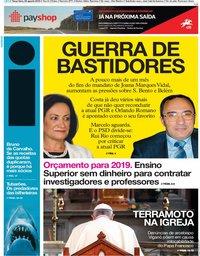 capa Jornal i de 28 agosto 2018