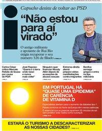 capa Jornal i de 30 agosto 2018