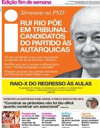 capa Jornal i de 31 agosto 2018