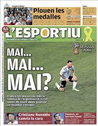 capa L'Esportiu de 1 julho 2018