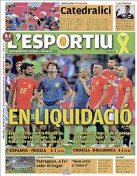 capa L'Esportiu de 2 julho 2018