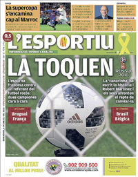 capa L'Esportiu de 6 julho 2018