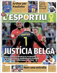 capa L'Esportiu de 7 julho 2018