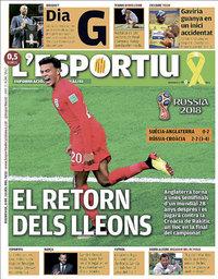 capa L'Esportiu de 8 julho 2018
