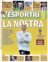 capa L'Esportiu de 10 julho 2018