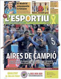 capa L'Esportiu de 11 julho 2018