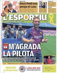 capa L'Esportiu de 13 julho 2018