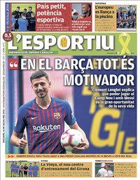 capa L'Esportiu de 14 julho 2018