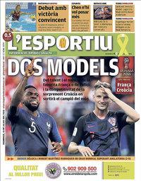 capa L'Esportiu de 15 julho 2018