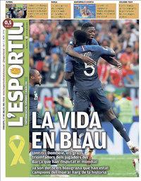 capa L'Esportiu de 17 julho 2018