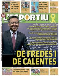 capa L'Esportiu de 22 julho 2018