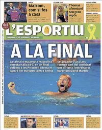 capa L'Esportiu de 27 julho 2018