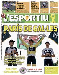 capa L'Esportiu de 30 julho 2018