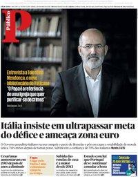 capa Público de 1 setembro 2018
