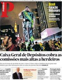 capa Público de 9 outubro 2018