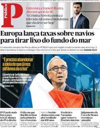 capa Público de 10 setembro 2018