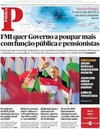 capa Público de 13 setembro 2018