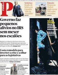 capa Público de 15 outubro 2018