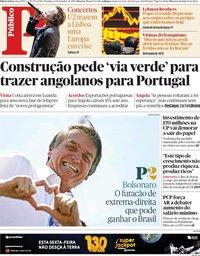 capa Público de 16 setembro 2018