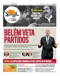 capa Jornal SOL de 1 janeiro 2018