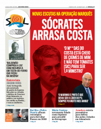 capa Jornal SOL de 1 setembro 2017